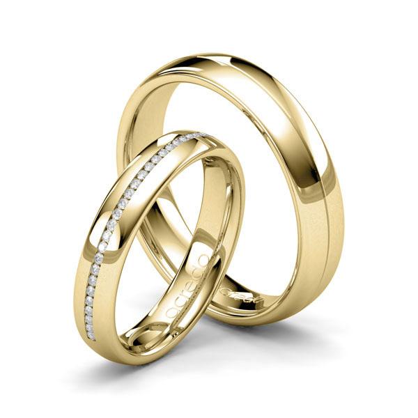 Bagues de mariage en or jaune de 22 carats