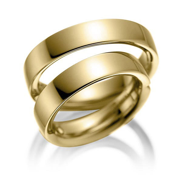 Bagues de mariage simples en or jaune