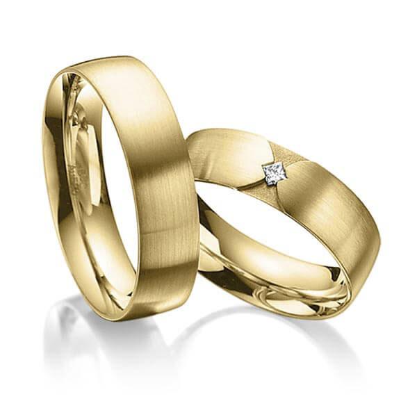 Alliances de mariage en or jaune belgique