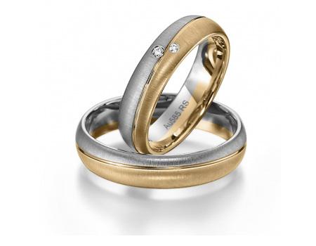 Bague de mariage bicolore en or