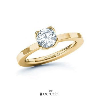 Bague de fiançailles en or et diamant solitaire