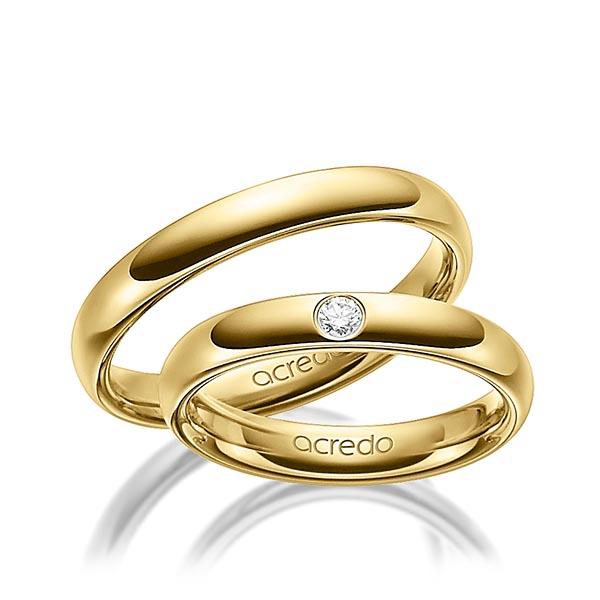 Bague de mariage en or et diamant