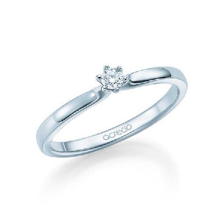 Bague de fiançailles avec solitaire diamant