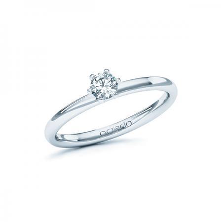 Bague de fiançailles Charisma en or blanc et solitaire diamant