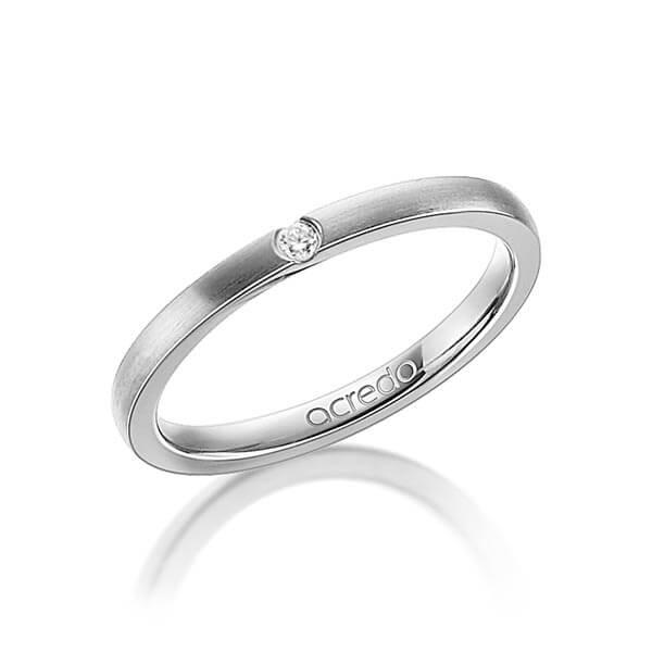bague de fiançailles simple avec diamant rond
