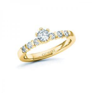 Bague de mariage Charisma en or jaune serti de diamants