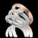 Bagues de mariage en platine et or rose