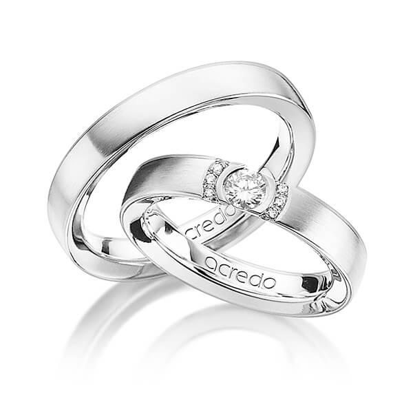 Bagues de mariage serties de diamants