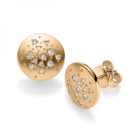 Boucles oreilles avec constellation de diamants Acredo