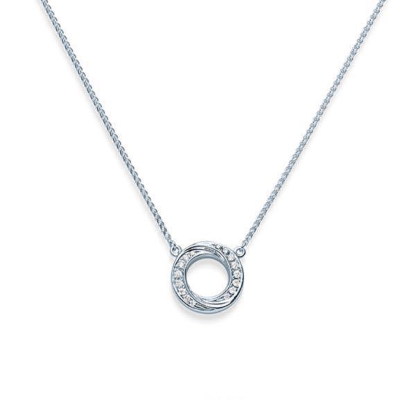 Collier Acredo en or blanc et pavage de diamants