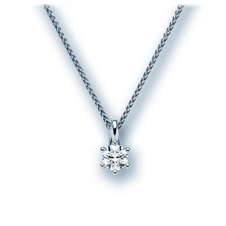 Pendentif avec diamant solitaire