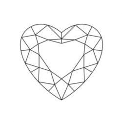 Diamant taillé en coeur