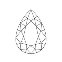 Diamant taillé en poire