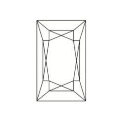 Diamant rectangulaire appelé baguette